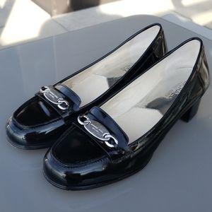 michael kors patent loafers